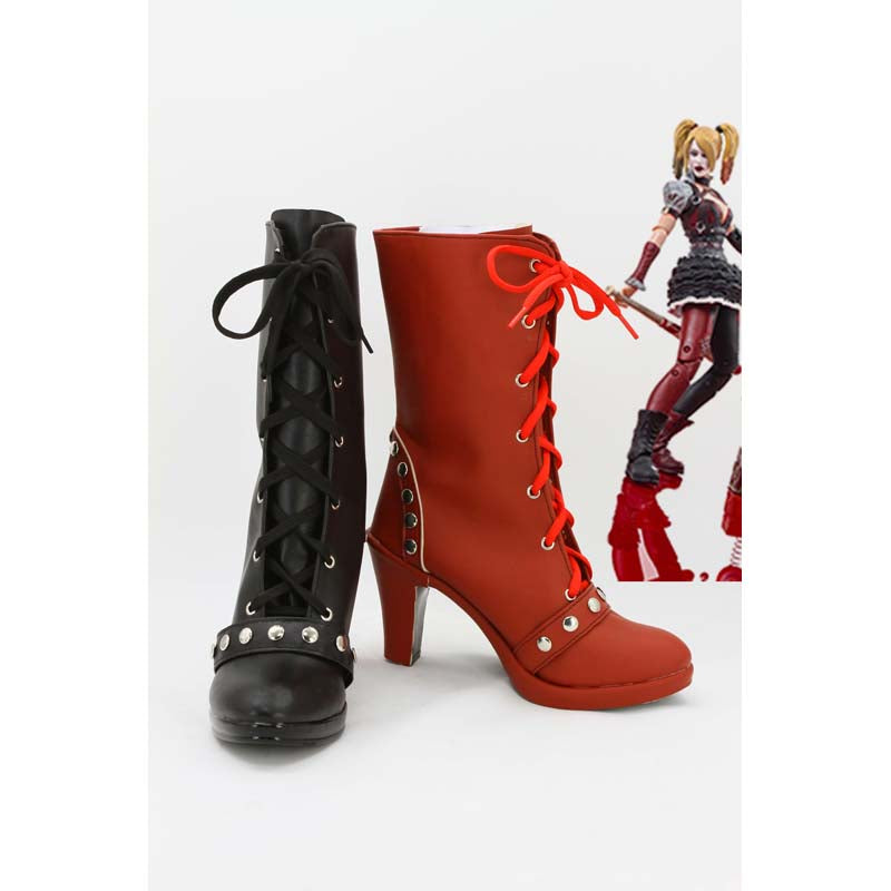 Batman Arkham Knight Harley Quinn Boots Cosplay Shoes
