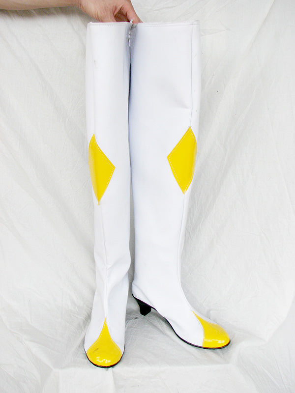 Code Geass: Lelouch of the Rebellion White Cosplay Boots