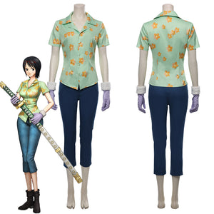 One Piece:Pirate Warriors 4 Tashigi Shirt Outfit Halloween Carnival Costume Cosplay Costume