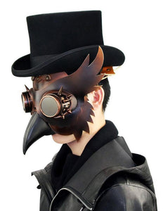 Plague Doctor Bird Mask Steampunk Beak Mask Halloween-Fandomsky
