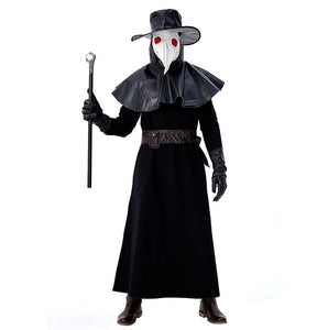 Men Medieval Plague Doctor Halloween Fancy Dress Costume