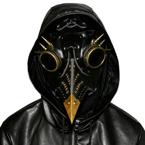 Plague Doctor Bird Mask Steampunk Beak Mask Metal Mask Cosplay Props