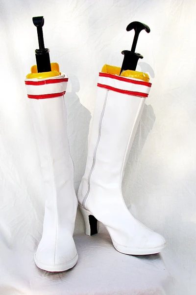 Tekken Lili Cosplay Boots Shoes White Custom Made