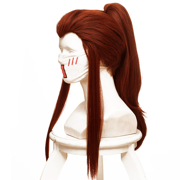 Overwatch Brigitte Lindholm Cosplay Wig reddish brown