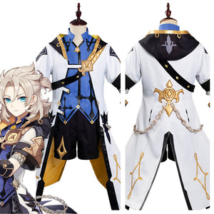 Game Genshin Impact Albedo Outfits Halloween Carnival Costume Cosplay Costume