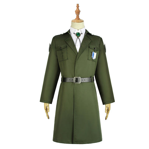 Attack on Titan Levi Eren Mikasa Scouting Legion Trench Coat Uniform Halloween Carnival Costume Cosplay Costume