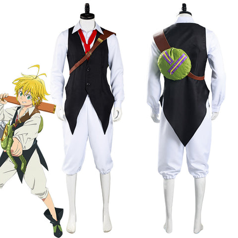 The Seven Deadly Sins Meliodas Shirt Pants Outfits Halloween Carnival Suit Cosplay Costume