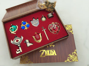 The Legend of Zelda Collection Sets Keychain Necklace Series Gift box Cosplay Accessories