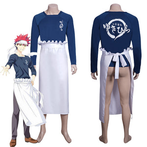 Anime Food Wars! Shokugeki no Soma Souma Yukihira Top Apron Outfits Halloween Carnival Costume Cosplay Costume