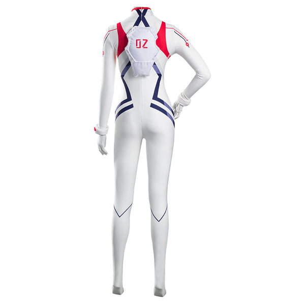 Evangelion 4.0 Final EVA Asuka Langley Sohryu White Jumpsuit Battle Outfits Halloween Carnival Suit Cosplay Costume