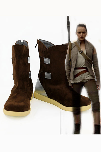 Star Wars 8 The Last Jedi Rey Boots Cosplay Shoes