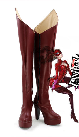 Persona 5 Ann Anne Takamaki Panther Cosplay Shoes Boots