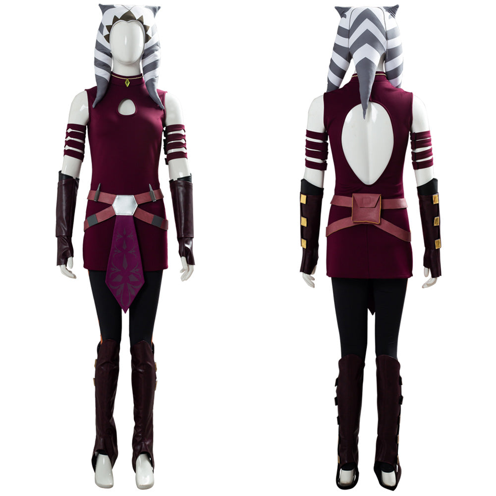 Ahsoka Tano Costume Kids Star Wars Halloween Fancy Dress