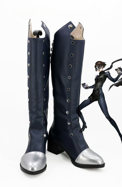 P5 Persona 5 Makoto Niijima Cosplay Shoes Boots Custom Made