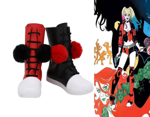 DC Comics Harley Quinn Cosplay Shoes