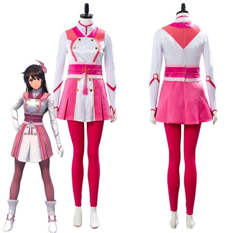 Project Sakura War Amamiya Sakura Battle Uniform Set Cosplay Costume