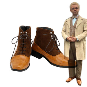 Good Omens Angel Aziraphale Cospaly Shoes