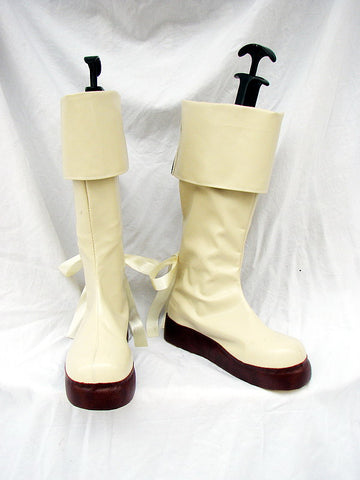 Macross Frontier Sheryl Nome Cosplay Boots White