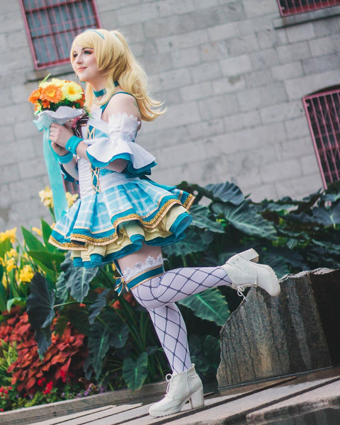 Love Live ! Sunshine ! Eli Ayase Bouquet Uniform Dress Cosplay Costume