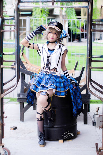 Love Live! Sunshine!! Watanabe Bouquet Dress Punk Rock Outfit Cosplay Costume