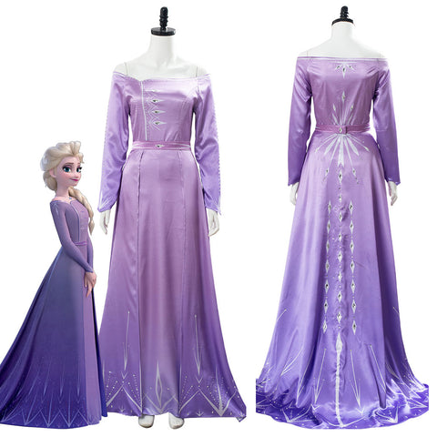 Frozen 2 Elsa Dress Nightgown Gown Pink Arendelle Bedroom Dress Purple Violet Cosplay Costume