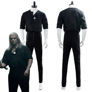 The Witcher 2019 TV Geralt of Rivia Casual Wear Cosplay Costume
