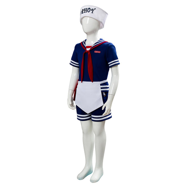 Stranger Things 3 Scoops Ahoy Steve Harrington Cosplay Costume For Kid
