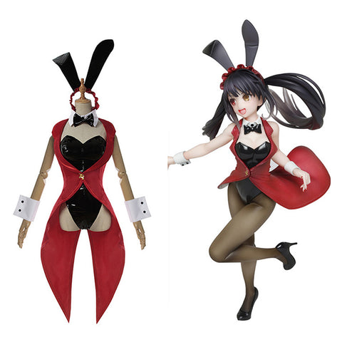 Anime Date A Bullet Tokisaki Kurumi Bunny Girl Jumpsuit Outfits Halloween Carnival Suit Cosplay Costume