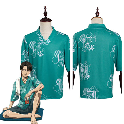 Attack on Titan X RAKU SPA Levi·Ackerman Halloween Carnival Suit Cosplay Costume