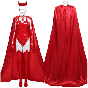 WandaVision2020- Sexy Scarlet Witch Wanda Maximoff Women Outfit Halloween Carnival Costume Cosplay Costume