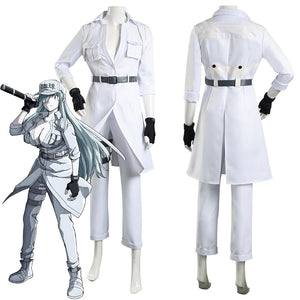 Cells at Work! Code Black/Hataraku Saibou Black -Hakkekkyuu/White Blood Cell Coat Pants Outfits Halloween Carnival Suit Cosplay Costume