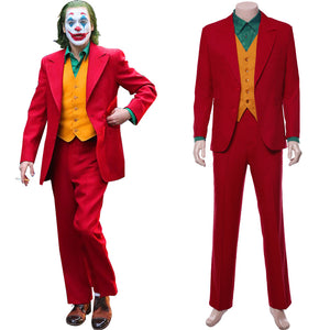 Joker 2019 Joaquin Phoenix Arthur Fleck Joker Cosplay Costume (Able to Arrive Before Halloween)