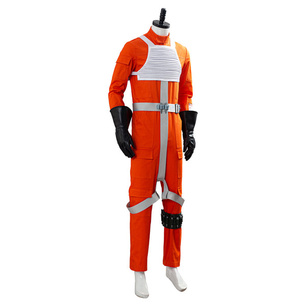 Star Wars X-WING Rebel Uniform Outfit Pilot Jumpsuit Cosplay Costume
