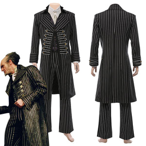 Lemony Snicket's A Series of Unfortunate Events-Count Olaf Men Coat Pants Outfits Halloween Carnival Suit Cosplay Costume