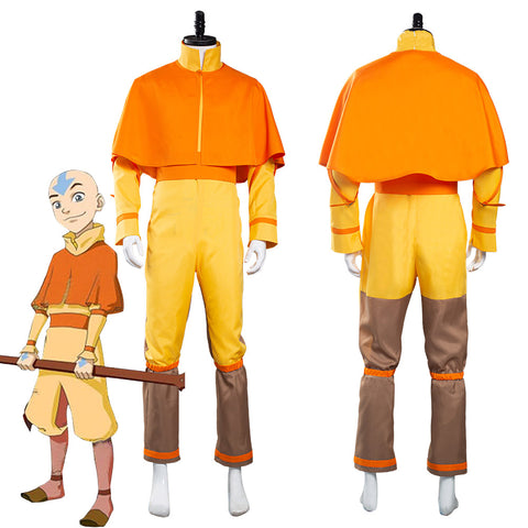 Avatar: The Last Airbender Avatar Aang Jumpsuit Outfits Halloween Carnival Suit Cosplay Costume