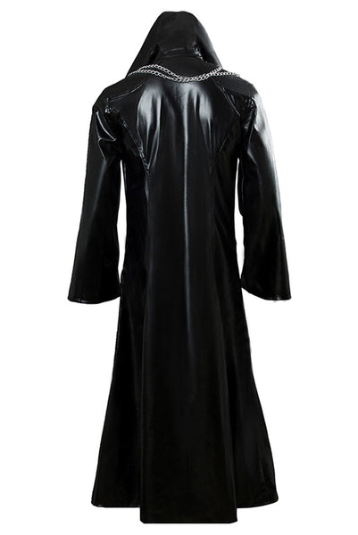 Organization XIII Kingdom Hearts II Cosplay Pleather Coat Costume New Version