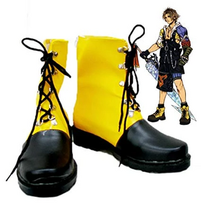 Final Fantasy Tidus Cosplay Shoes Boots Rubber