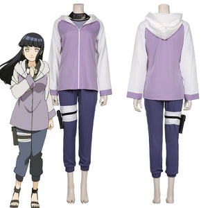NARUTO-Hyūga Hinata Jacket Pants Outffits Halloween Carnival Suit Cosplay Costume