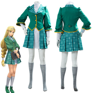 Game Project Sakura War Claris School Uniform Cosplay Costume