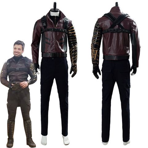 The Falcon and the Winter Soldier Bucky Barnes Outfit Cosplay Costume