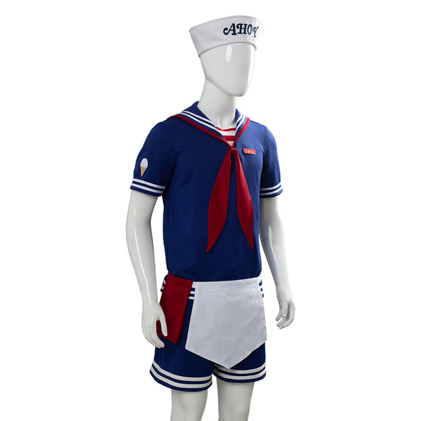 Stranger Things 3 Scoops Ahoy Steve Harrington Cosplay Costume Adult and Child