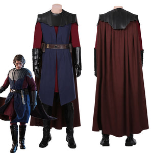 Star Wars: The Clone Wars Anakin Skywalkeri Coat Cloak Uniform Outfits Halloween Carnival Suit Cosplay Costume
