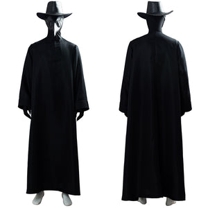 Plague Doctor Bird Beak Mask Steampunk Long Robe Outfit Halloween Cosplay Costume