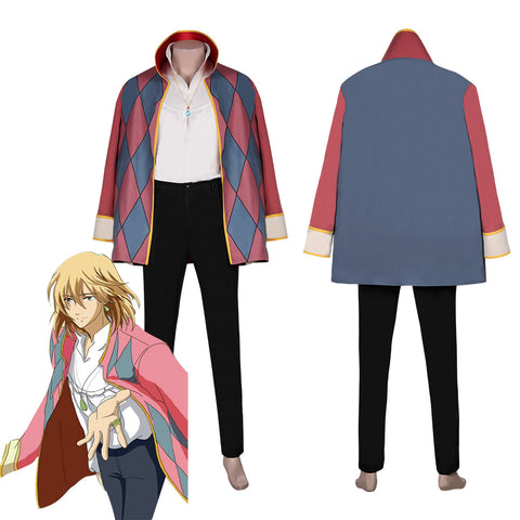 Movie Howl's Moving Castle-Howl Cloak Outfits Halloween Carnival Suit Cosplay Costume