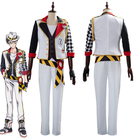 Game Twisted-Wonderland Alice in Wonderland Theme Trey Cosplay Costume