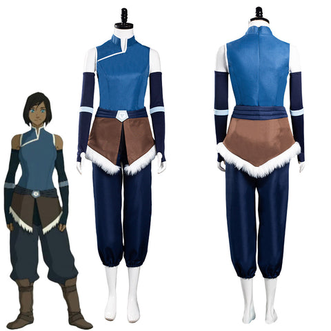The Legend of Korra Season 4 Korra Top Pants Outfits Halloween Carnival Suit Cosplay Costume