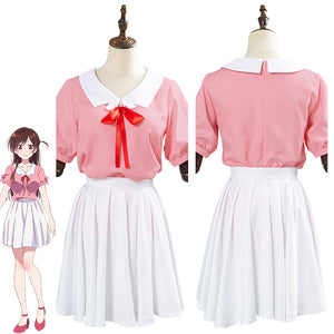 Rent A Girlfriend Ichinose Chizuru/Mizuhara Chizuru Girl's Top Short Skirt Suit Halloween Carnival Costume Cosplay Costume