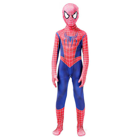 Raimi Spider-Man Peter Parker Original Outfit Cosplay Costume Kids