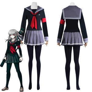 Super Danganronpa 2: Goodbye Desperate Academy-Peko Pekoyama School Uniform Dress Outfits Halloween Carnival Suit Cosplay Costume