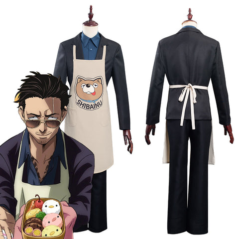The Way Of the Household Husband Tatsu Shirt Pants Apron Outfits Halloween Carnival Suit Cosplay Costume